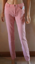 Ladies Ex ZARA Salmon Pink Stretch Skinny Jeans 8