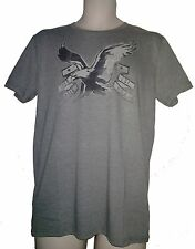 NWT AMERICAN EAGLE OUTFITTERS MENS SIGNATURE GRAPHIC T SHIRT NEW AEO GRAY TEE