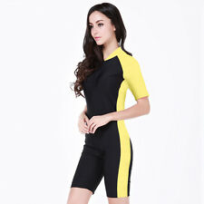 Woman's Lycra Swimwear Diving Jump Suit Short Sleeve Scuba & Snorkeling Suit