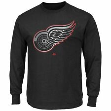 Majestic Detroit Red Wings Game Reflex Long Sleeve T-Shirt - Black