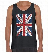 Union Jack Distressed Men's Tank Top British Flag Great Britain England TankTOP
