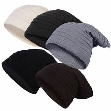 Unisex Knitted cap Scarf Combination Long Beanie with Stripes Winter hat