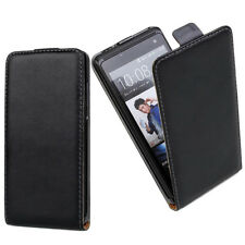 Black Leather Flip Mobile Phone Case Cover For Sony Model