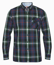 Mens Levis Checked Shirt - Navy, Green, Red & White (6599-0010)