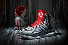 Mens Adidas D Rose 4.5 Sneakers New, Gray Aluminium Red G98339 Chicago Bulls