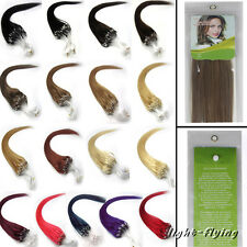 """16""""18""""20""""22""""22""""24""""26"""" Micro Loop Ring remy human hair extensions 19 colors 100s"""
