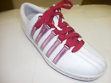 K Swiss Classic White/Red Varsity Leather Low Sneakers 9763163 Sizes: Multiple