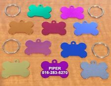 PET TAGS CUSTOM ENGRAVED DOUBLE SIDED PERSONALIZED ID DOG TAG DOG BONE PET ID
