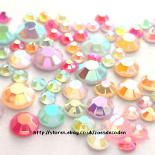 Assorted Mix Size Color Jelly Rhinestone round DIY Phone mobile case Flat back