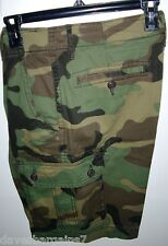 CAMO CARGO SHORTS CLASSIC FIT MEN`S SIZES: 29, 30, 31 CAMPING HUNTING ARMY NWT