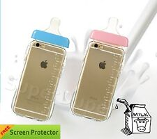 """Clear Milk Bottle Design TPU Soft Gel PC Protection Case For Apple iPhone 6 4.7"""""""