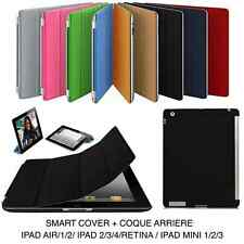 Housse Etui Smart Cover Case iPad Air Mini iPad 2/3/4 COQUE ARRIERE FILM