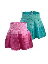 NEW Minoti Baby Toddler Girls Dip Dye Broaderie Anglaise RaRa Skirt Pink / Teal