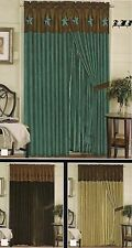 EMBROIDERY WESTERN STAR WINDOW CURTAIN Complete Set
