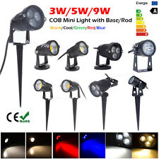 3W 5W 9W COB LED Spotlight Outdoor Yard Garden Patio Landscape Light Lamp IP65