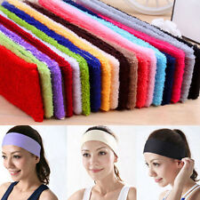 Sweatband Terry Cloth Cotton Headbands,Yoga/Gym/Workout Sweatbands 14Color Pick
