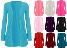 Women Long Sleeve Pocket Cardigan Top AU Size 8-26 & All Colours