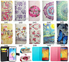 Stylish Flip Cartoon Printed Book Style PU Leather Stand Case Cover For Phone