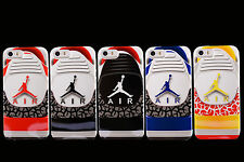 New 3D Sneaker Air Jordan Shoe TPU Hard Mobile Case Cover for Apple iPhone 5/5s