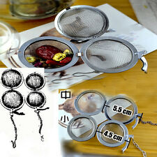 Utility Stainless Steel Tea Infuser Strainer Mesh Filter Spoon Hooking Chain CN