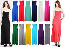 New Ladies Womens Bow Knot Style Tie Strapless Maxi Boob tube Girls Dress