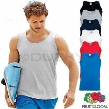 5 Pack Mens Fruit of the Loom Plain Athletic Vests Tank Top Gym Training T Shirt
