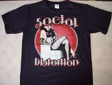 SOCIAL DISTORTION Gloves on T-Shirt  Band Rock Tour Music tee Vintage  retro