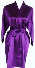 PURPLE Luxury Silk Satin Robe Gown Personalized Bridal Wedding Bridesmaid Robe