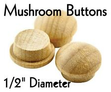 "1/2"" Maple Mushroom Buttons ~ Wood Screw Plugs { WHOLESALE LOT of 1000 } by PLD"