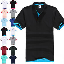 New Men's Short Sleeve Golf Polo T-shirt  MultiColors Size  M L XL 2XL 3XL