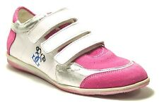 GIGA GIRLS Women's Girl's Comfort Shoes Trainers pink/white Real Leather