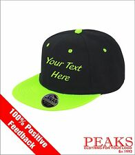 Personalised Baseball Caps Add Your Text for Birthdays, Holidays, Clubs, Company