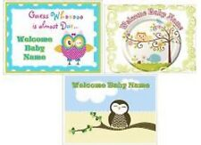 EDIBLE  CAKE  IMAGE  OWL  ICING  SHEET  BABY  SHOWER  PARTY  TOPPER