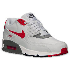 Nike Air Max 90 Essential Mens Size Running Shoes Grey Red Sneakers 537384 026