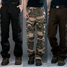 2015 Hot Design Mens Casual Military Army Cargo Camo Combat Work Pants Trousers