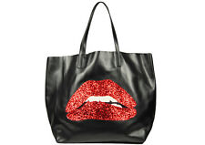 RED VALENTINO TASCHE LIPS TOTE BAG HANDBAG MADE IN ITALY #HQB00445