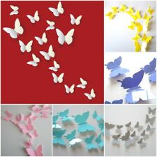 12 Art Colourful Home Decor Room Wall Stickers 3D Butterfly Romantic Decorations