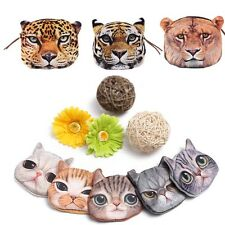 Cute Cat Owl Face Purse Zip Wallet Pouch Pocket Makeup Handbag Mini Coin Bag Hot