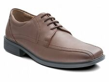Padders ASTON Mens Formal Comfy Leather Lace-Up Wide Fit Evening Shoes Brown Tan