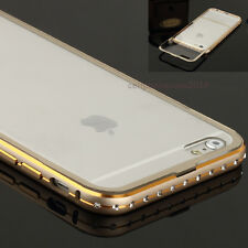 Luxury Crystal Rhinestone Bling Metal Case Cover Bumper For iPhone 6/6 plus+Back