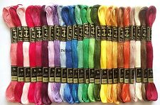 "24 Anchor Cross Stitch Cotton Embroidery Thread Floss/Skeins ""ASSORTED COLORS"""