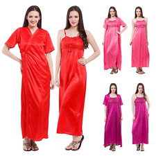 SEXY SATIN LONG CHEMISE NIGHT DRESS NIGHTDRESS NIGHTIE SLIP ROBE GOWN