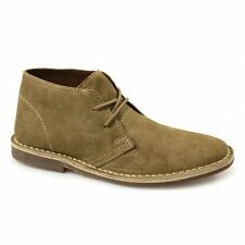Red Tape GOBI Mens Original Suede Leather Lace-Up Casual Ankle Desert Boots Tan
