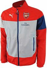 Arsenal  Puma mens red silver polyester leisure football training jacket 2014-15
