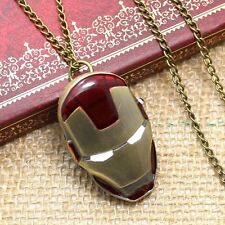New Iron Man Mask Movie hero character Quartz Pocket Watch Pendant Necklace Men
