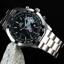 TOP LUXURY STEEL SKELETON MECHANICAL WATCH MEN Cool Army Military Case Uhr