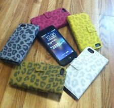 iPhone 5/5S Leather Case Cover Fashion Wallet Case Cheetah Print Patterned