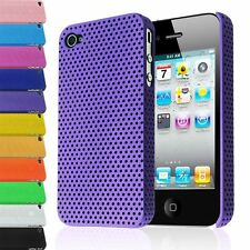 PERFORATED MESH IMPACT HARD BACK PLASTIC COVER CASE FOR IPHONE 4 4G