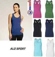 Alo Ladies Racerback Bamboo Tank Top W2006 XS-2XL Bamboo/Cotton/Spandex
