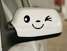 2pc smiling cute cartoon Rearview mirror vehicle random car stickers wall decals
